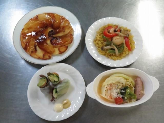 4品の料理写真