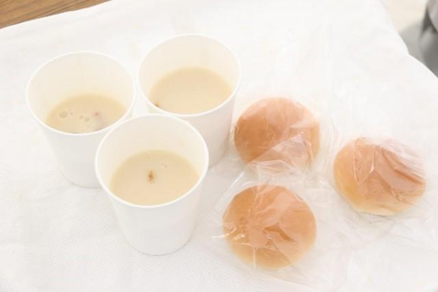 手作りスープとパン