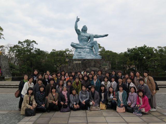 平和記念公園にて