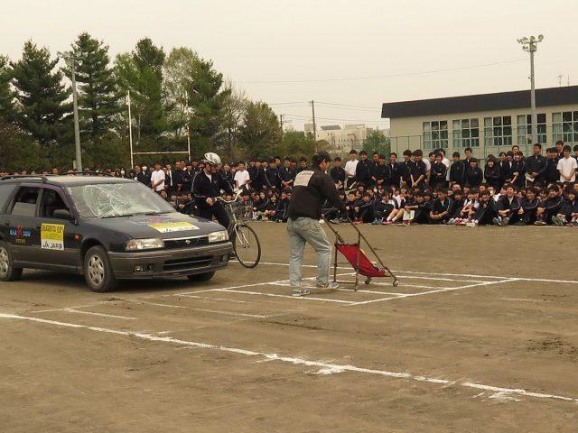 JA共済自転車交通安全教室の様子