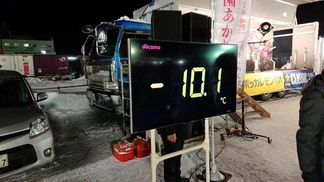 会場の気温