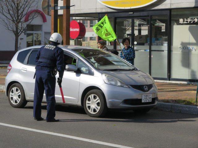 交通安全街頭啓発の様子