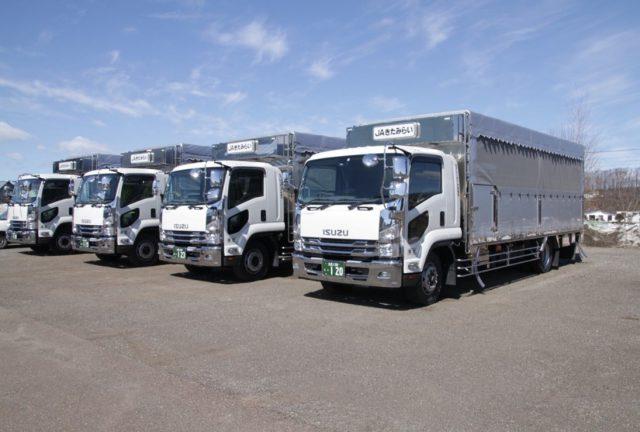 新しい家畜運搬車