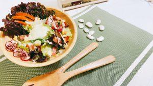 白花豆シーザードレッシング 調理例